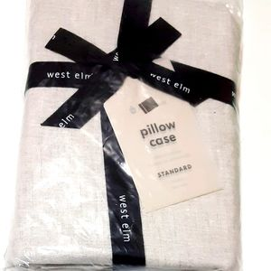 West Elm Belgian Flax Linen Standard Pillow Case